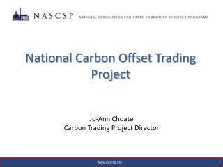 National Carbon Offset Tradin g Project