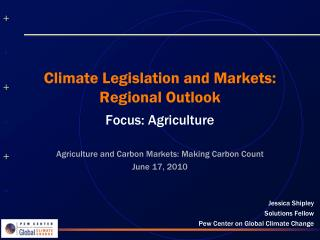 Climate Legislation and Markets: Regional Outlook