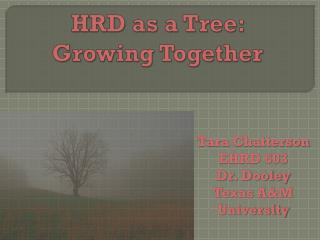 HRD as a  Tree: Growing Together