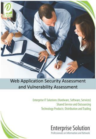 Web Application Security  Assessment and  Vulnerability  Assessment