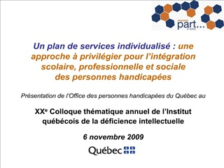 Un plan de services individualis