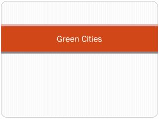 Green Cities