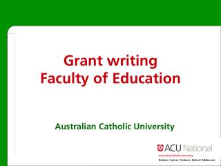 Grant writing Faculty of Education