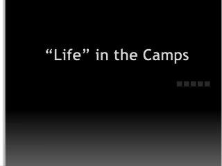 """Life"" in the Camps"