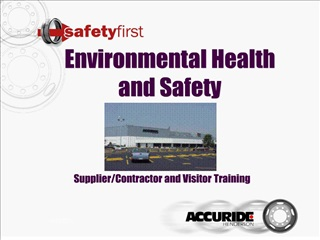 Environmental Health and Safety      Supplier