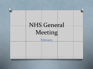 NHS General Meeting