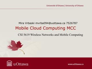Mobile Cloud Computing MCC