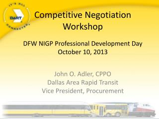 Competitive Negotiation Workshop