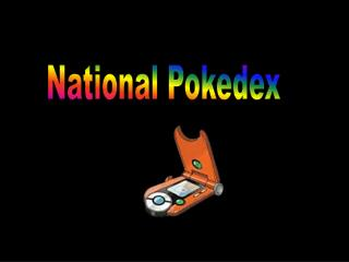 National  Pokedex