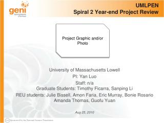 UMLPEN Spiral 2 Year-end Project Review