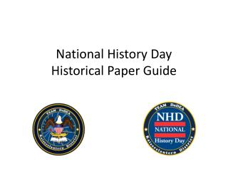 National History Day Historical Paper Guide