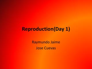 Reproduction(Day 1)