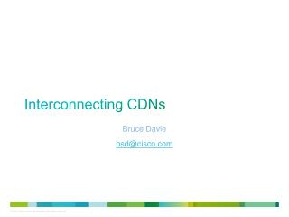 Interconnecting  CDNs