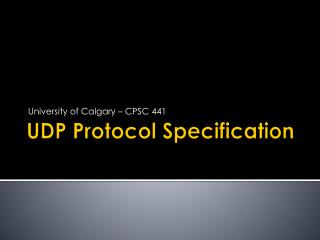UDP Protocol Specification