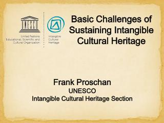 Frank Proschan UNESCO  Intangible  Cultural Heritage  Section
