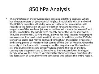 850  hPa  Analysis