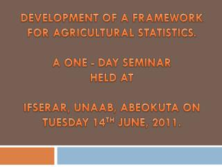 COLLECTION AND DISSEMINATION OF DEMOGRAPHIC STATISTICS IN RELATION TO FOOD SECURITY.