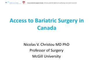 Access to Bariatric Surgery in Canada