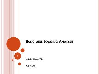 Basic well Logging Analysis