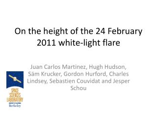 On the height of the 24 February 2011 white-light flare