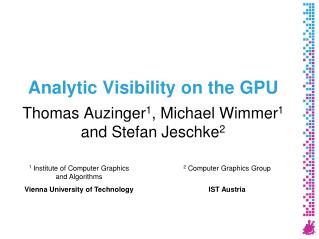 Analytic Visibility on the GPU