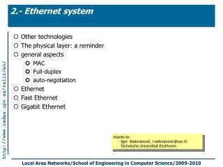 2.- Ethernet system