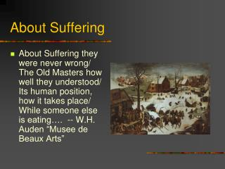 About Suffering