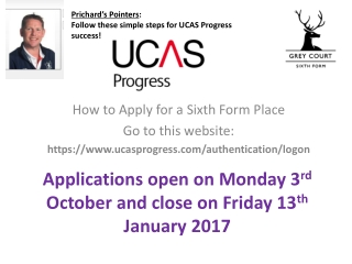 How to Apply for a Sixth Form Place Go to this website: