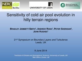 Sensitivity of cold air pool evolution in hilly terrain regions