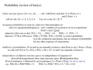 Probability (review of basics)