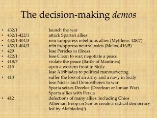 The decision-making  demos