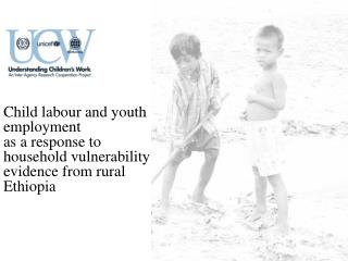 Child  labour  and youth employment