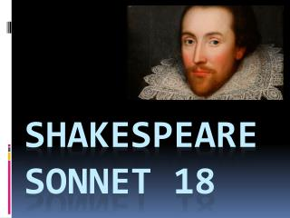 Shakespeare SONNET 18