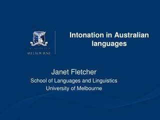 Intonation in Australian languages