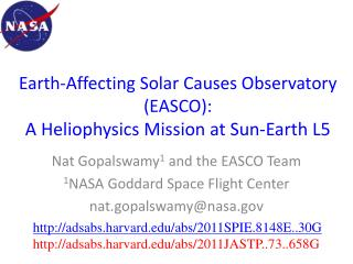 Earth-Affecting Solar Causes Observatory (EASCO): A Heliophysics Mission at Sun-Earth L5