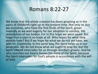 Romans 8:22-27