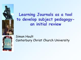 Learning Journals as a tool to develop subject pedagogy- an initial review