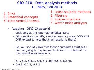 SIO 210: Data analysis methods L. Talley, Fall 2013