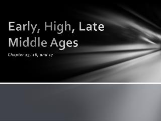 Early, High, Late Middle Ages