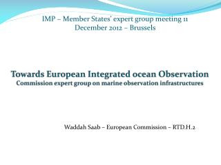 Waddah Saab – European Commission – RTD.H.2
