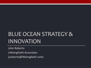 Blue ocean strategy & Innovation