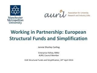 Working in Partnership: European Structural Funds and Simplification