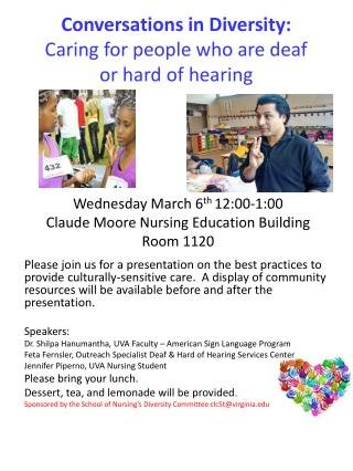 Conversations in Diversity: Caring for people who are deaf  or hard of hearing