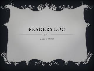 Readers Log