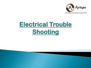 Electrical Trouble Shooting