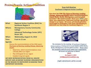 Town Hall Meeting : Southeast II Regional Action Coalition