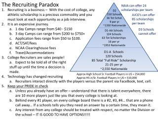 The Recruiting Paradox