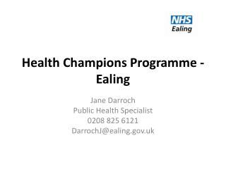 Health Champions Programme - Ealing