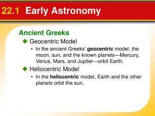 22.1   Early Astronomy