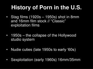 History of Porn in the U.S.